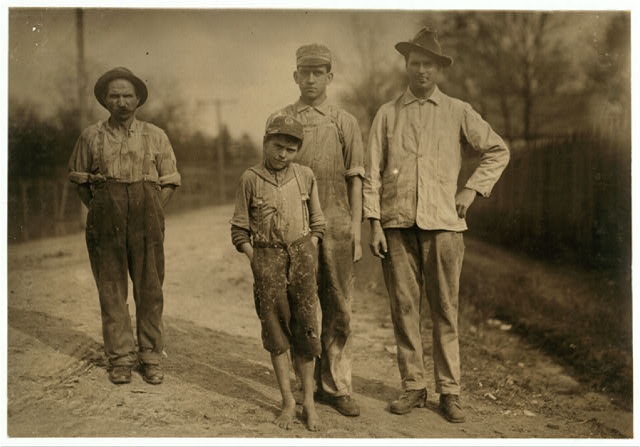 One of the young workers of the Stevenson Cotton Mills. Apparently Under twelve years.  Location: Stevenson, Alabama.