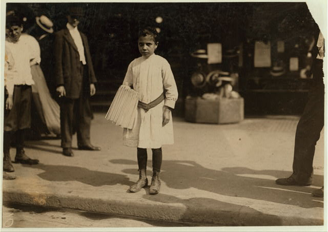 Mary Malchade, 27 Roosevelt St., 9 years old. Sells papers near Brooklyn Bridge.  Location: New York, New York (State)