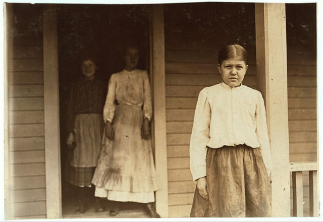 Golla Chambers, House 38 Loray Mill, Gastonia, N.C. 12 years old. In mill 3 years, spinning 2 years, weaver 1 year. Other sisters spinners.  Location: Gastonia, North Carolina.