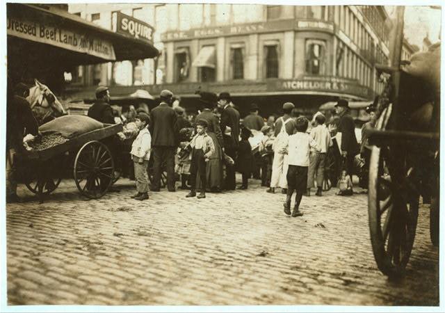Market scene.  Location: Boston, Massachusetts.