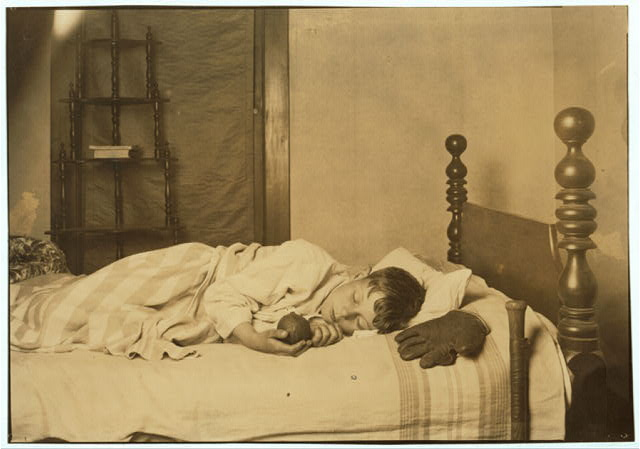 Miscellaneous. Boy in bed--asleep