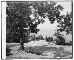 [Visitors observing view from point at Chickamauga and Chattanooga National Military Park]