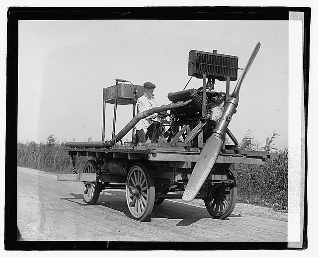 [Wheeled vehicle with mounted propeller], 10/11/22