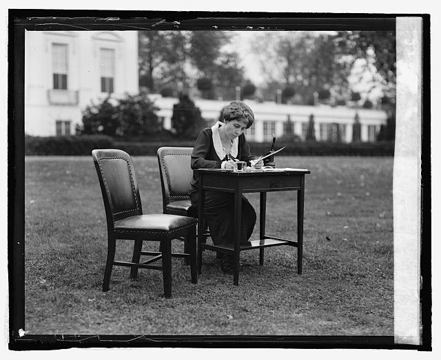 Mrs. Coolidge votes by mail, [10/30/24]