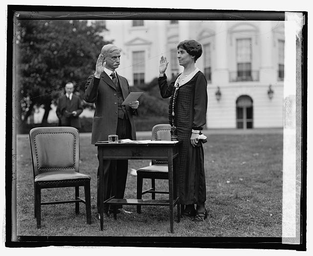 Mrs. Coolidge votes by mail, 10/30/24