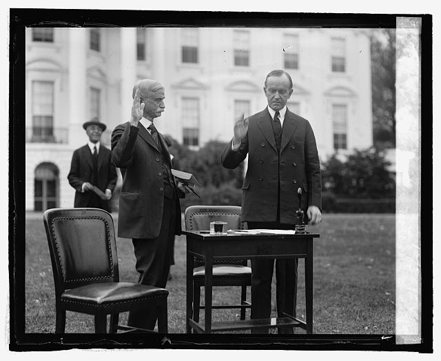 Pres. Coolidge votes by mail, 10/30/24