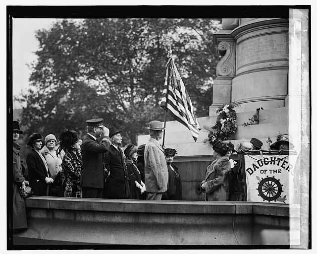 Daughters of 1812 at Farragut statue, May Day, 10/27/24
