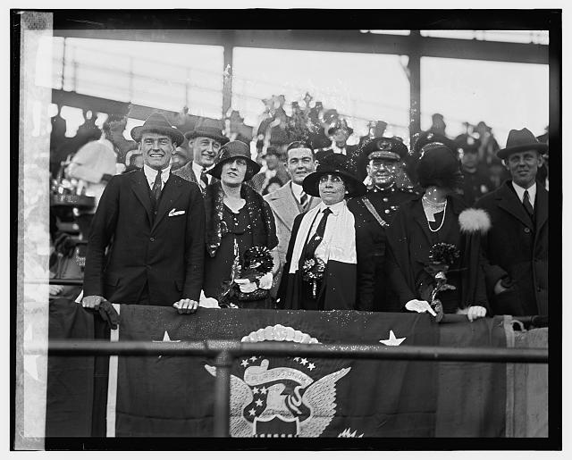Mrs. Coolidge at Marines - Fort Benning game, 11/3/24