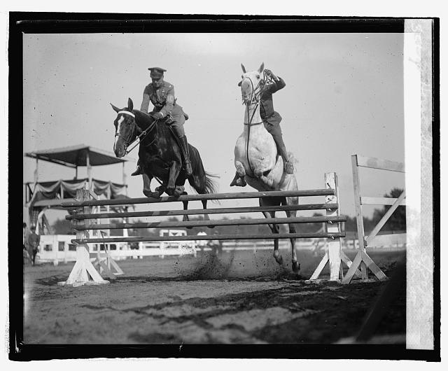 Col. Wm. Mitchell and groom at horse show, 5/20/25