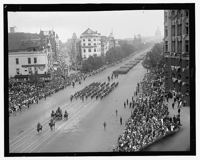 Pershing parade on Pa. Ave., Wash. D.C.