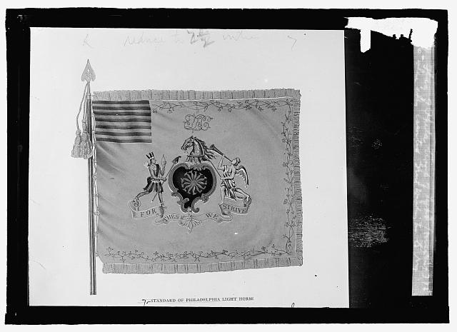 Flag of Phila. troop of Light Horse in 1775 when they escorted Gen'l Washington to N.Y.