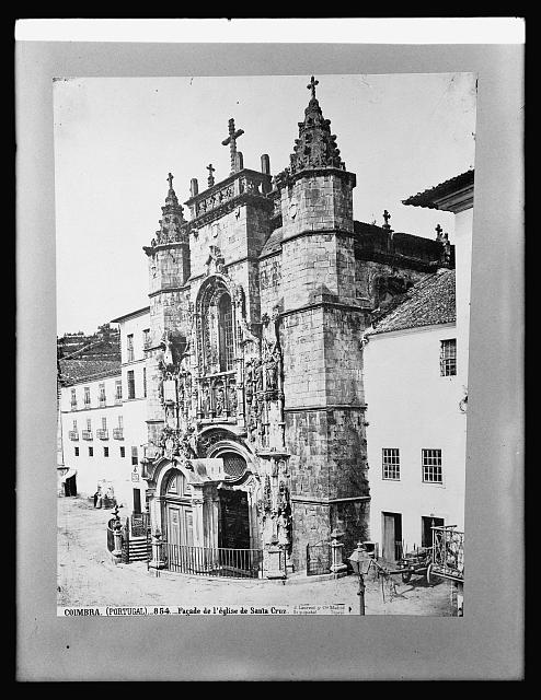 Spain. Fasada of Santa Cruz Church at Coimbra