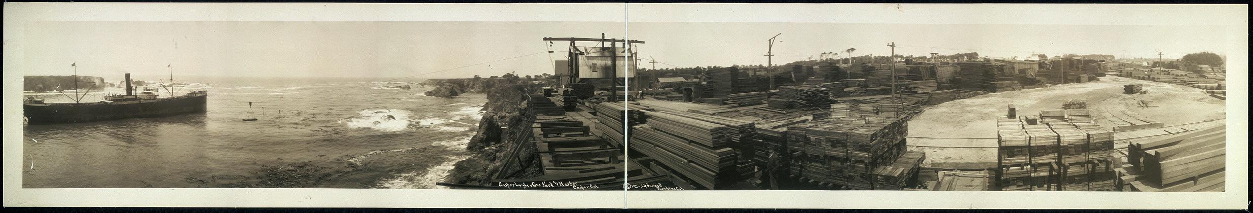 Casper [sic] Lumber Co.'s yard and harbor, Casper [sic], Cal.