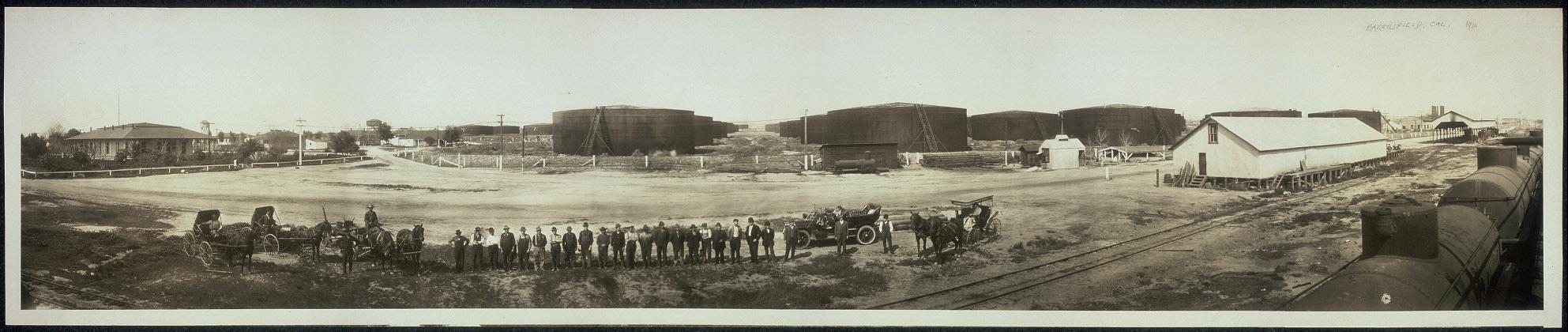 Standard Oil tanks at Bakersfield, Calif.