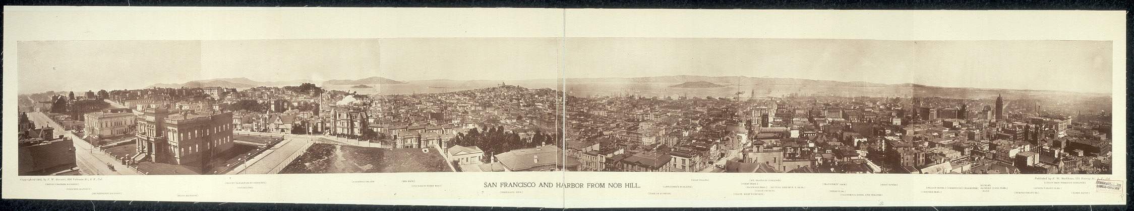 San Francisco and harbor from Nob Hill