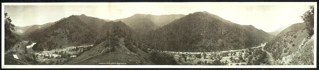 Panorama of El Portal on line of Yosemit [sic] Valley R.R.