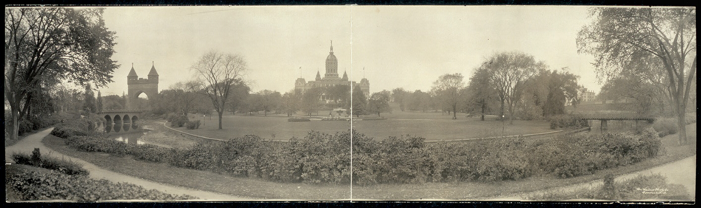 Park and Capitol Bldg., Hartford, Conn.