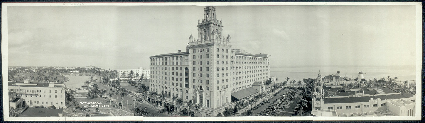 Roney Plaza Hotel, Miami Beach, Fla., Jan. 1, 1930