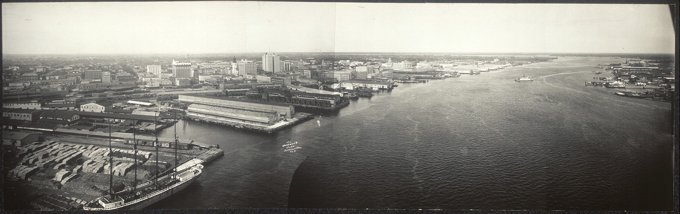 Jacksonville Fla. from St. John's River bridge