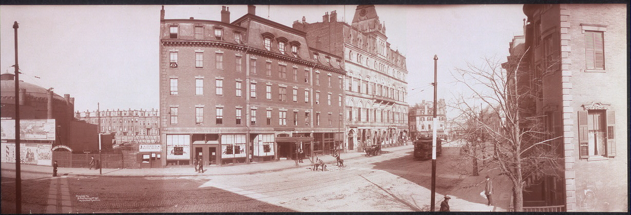 Panoramic photo of Hotel Clarendon, Tremont St., Boston, Mass.
