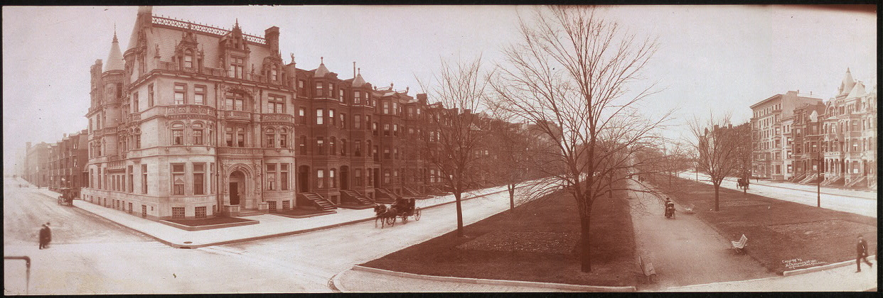 Panoramic photo of A. C. Burrage's residence, 314 Commonwealth Ave., Boston, Mass.