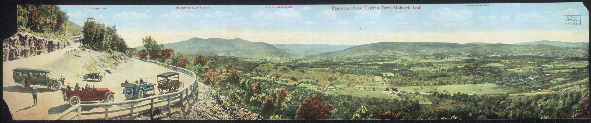 Panorama from Hairpin Turn, Mohawk Trail