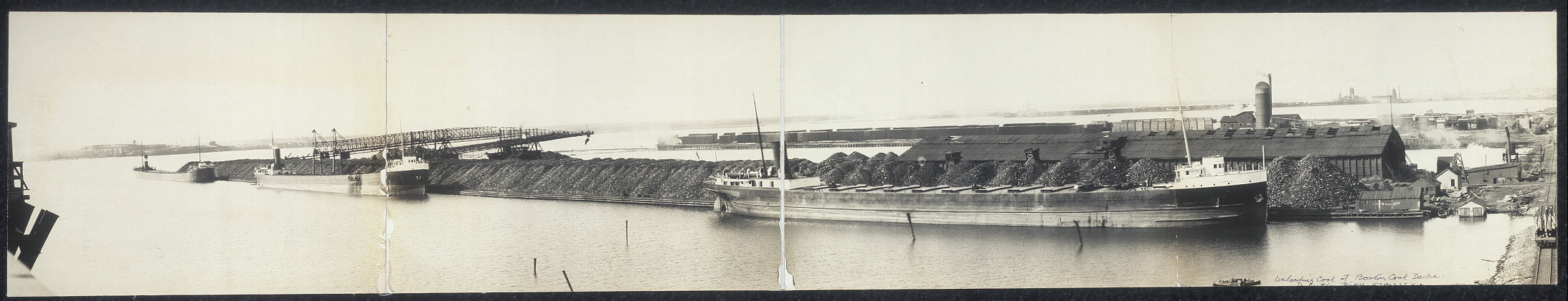 Unloading coal at Boston Coal docks, Duluth, Minn.