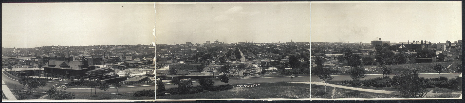 Bird's eye view, Kansas City, Mo. from Gillham Road