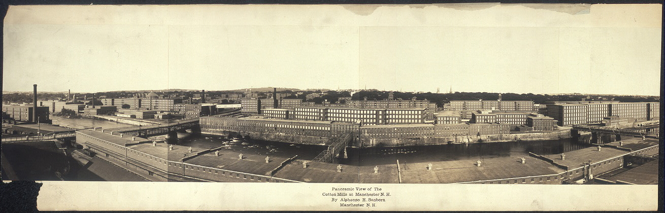 Panoramic view of the cotton mills at Manchester, N.H.