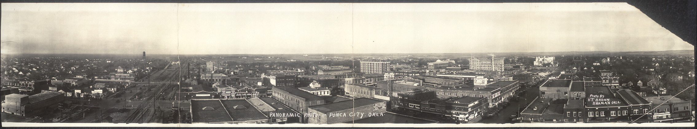 Panoramic photo of Ponca City, Okla.
