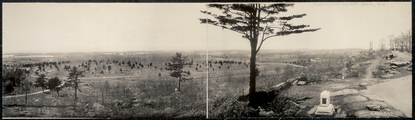 Panorama of 2nd day's battle, Gettysburg