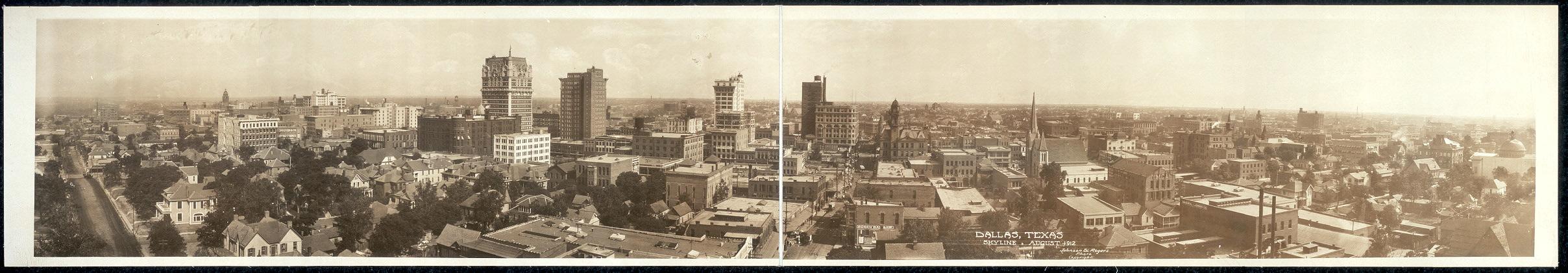 Dallas, Texas skyline, August 1912