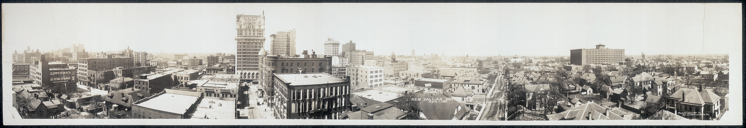 New Dallas skyline, April 1, 1913