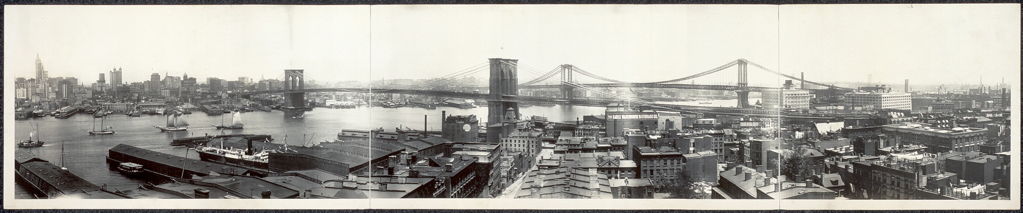 [New York from Brooklyn Heights, panoramic view]