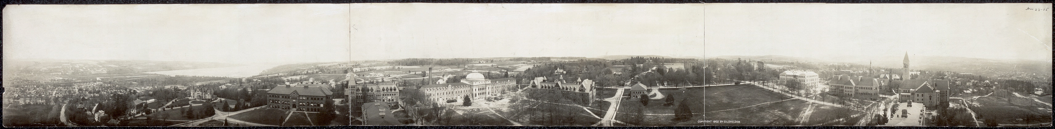 [Cornell Univ. from McGraw Tower embracing 360 [degrees], cyclorama view of]