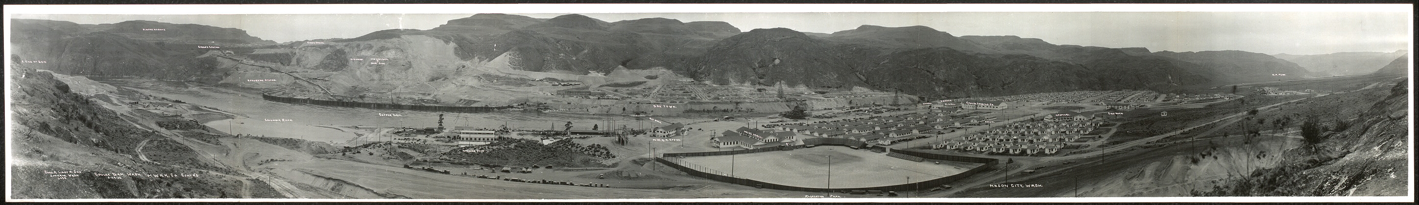 Coulee Dam, Wash., 5-29-'35, M.W.A.K. Co. Contr's