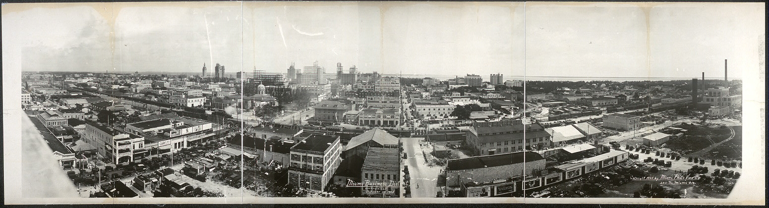 Miami business district looking east, October 1st, 1925