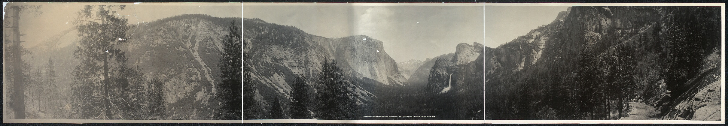 Panorama of Yosemite Valley from Artist Point