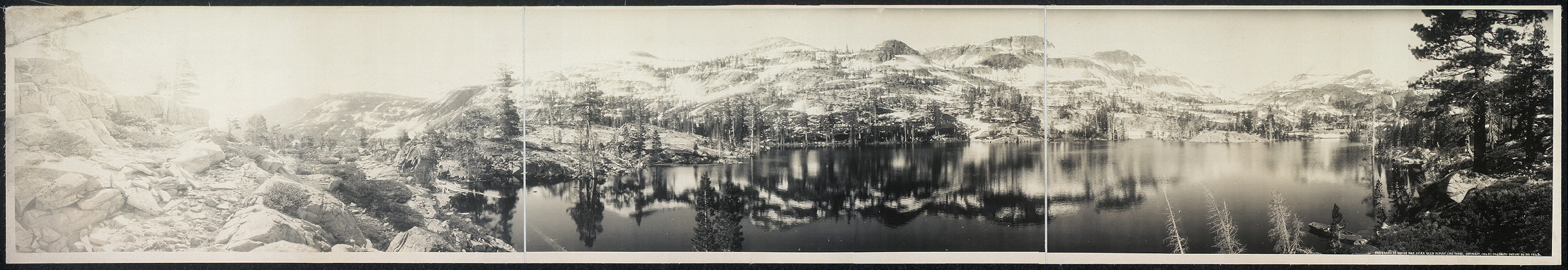 Panorama of Grass Lake near Glen Alpine, Lake Tahoe