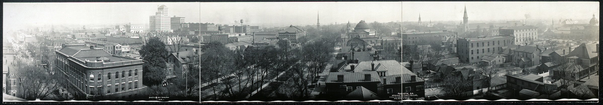 Augusta, Ga., adjacent to Camp Hancock where the Keystone Division are now in training, Feb. 1918