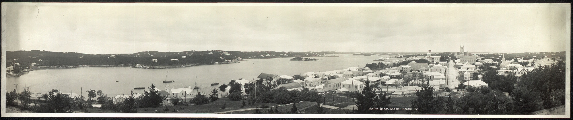 Hamilton, Bermuda, from Fort Hamilton