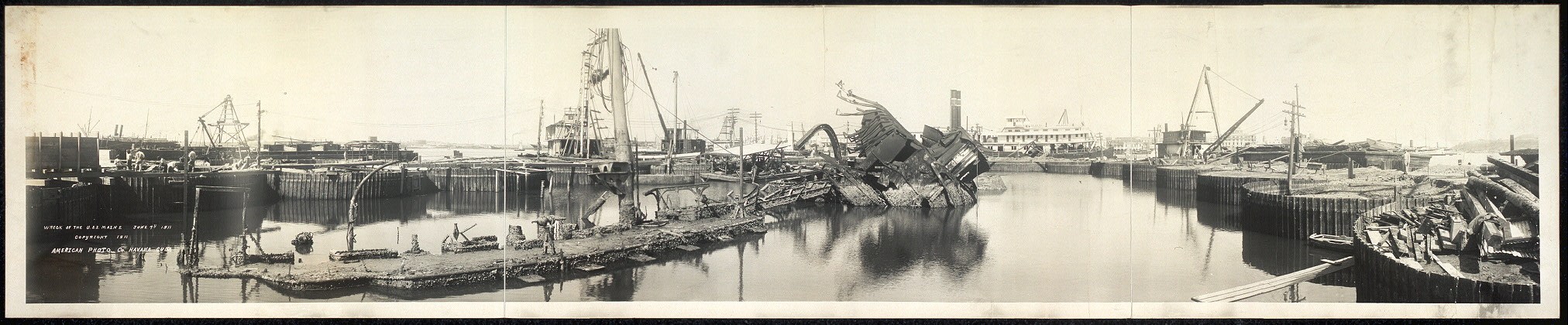 Wreck of the U.S.S. Maine, June 7th, 1911