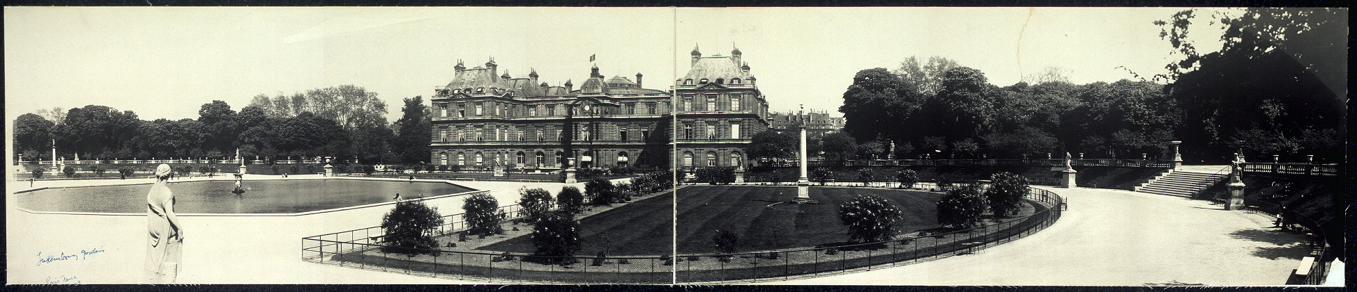 Panoramic view of Luxembourg Gardens, Paris
