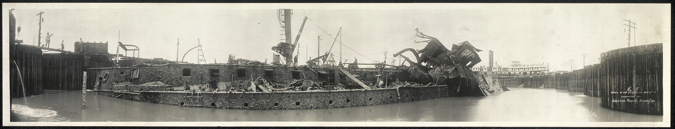 Wreck of the U.S.S. Maine, June 21st, 1911
