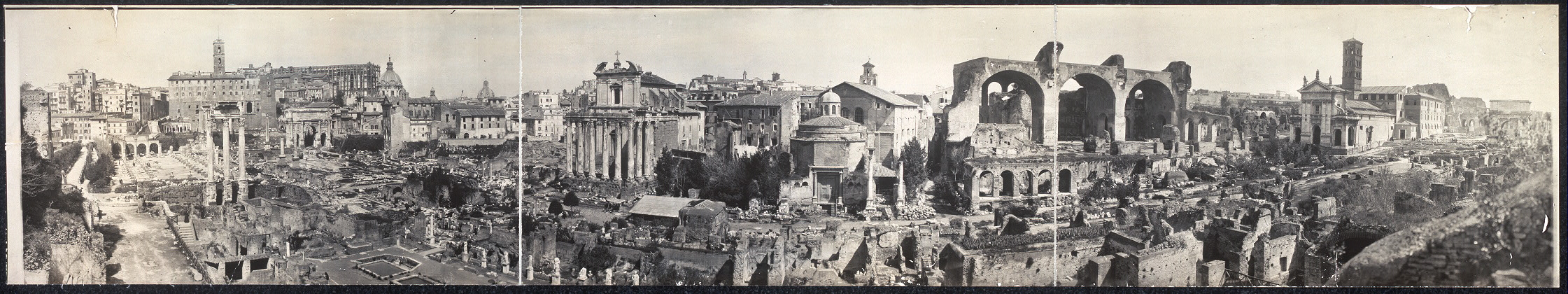 Roman Forum from hill