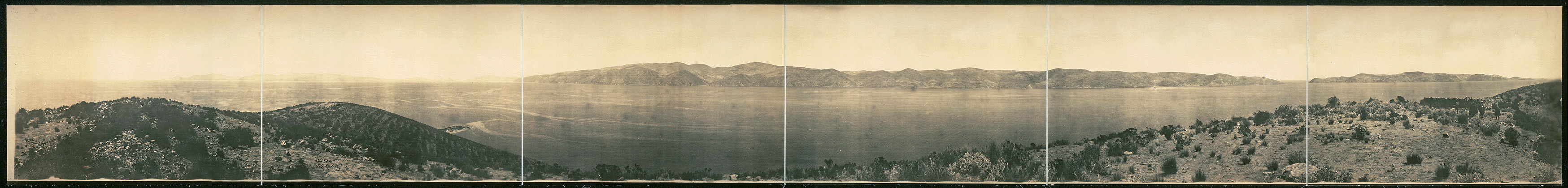 [Lake Titicaca from Island of the Moon]