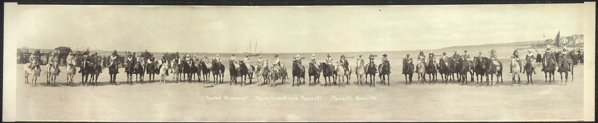 """Mounted Performers"", Pilgrim Tercentenary Pageant, Plymouth, Mass., 1921"