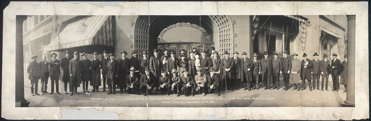 Members of the fifth conference of National Park Superintendents and representatives of National Park Utilities, Denver, Colorado, November 13-16, 1919