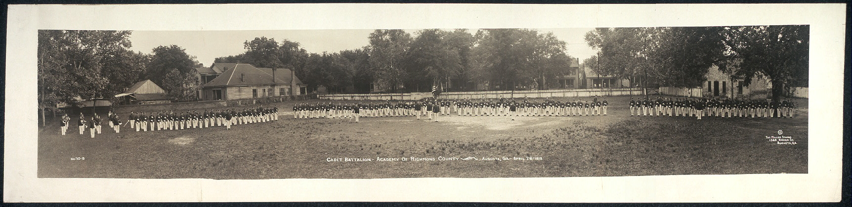 Cadet Battalion, Academy of Richmond County, Augusta, Ga., April 26, 1918