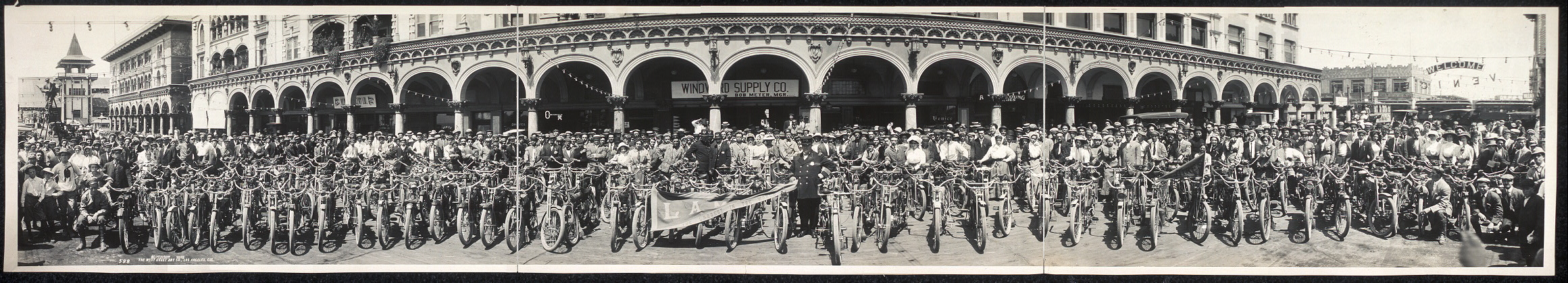 [Motorcycles at Venice, Calif.]